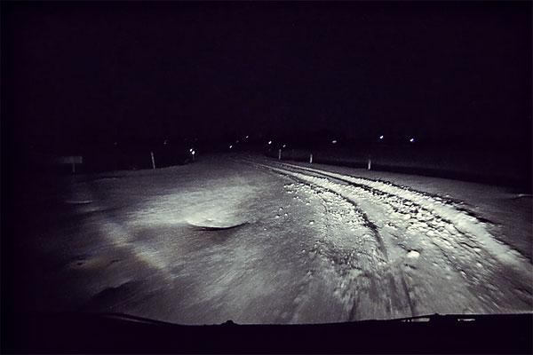 R2:初めての雪道
