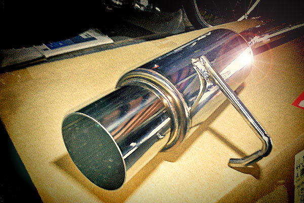 R2:VIVIO用砲弾型マフラーを試す
